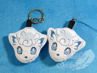 Alola Vulpix Soft Charms by SylenisArts