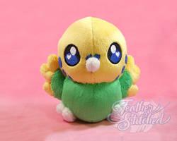 Chubby Chibi Budgie- Yellow/Green
