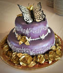 Monarchs and Melody Graduation Cake