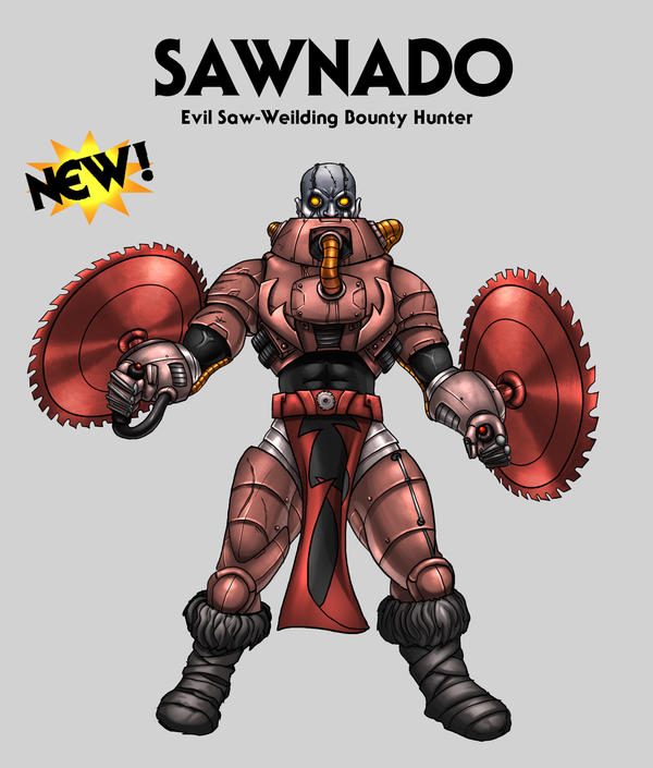 Sawnado - Saw Weilding Warrior by oICEMANo