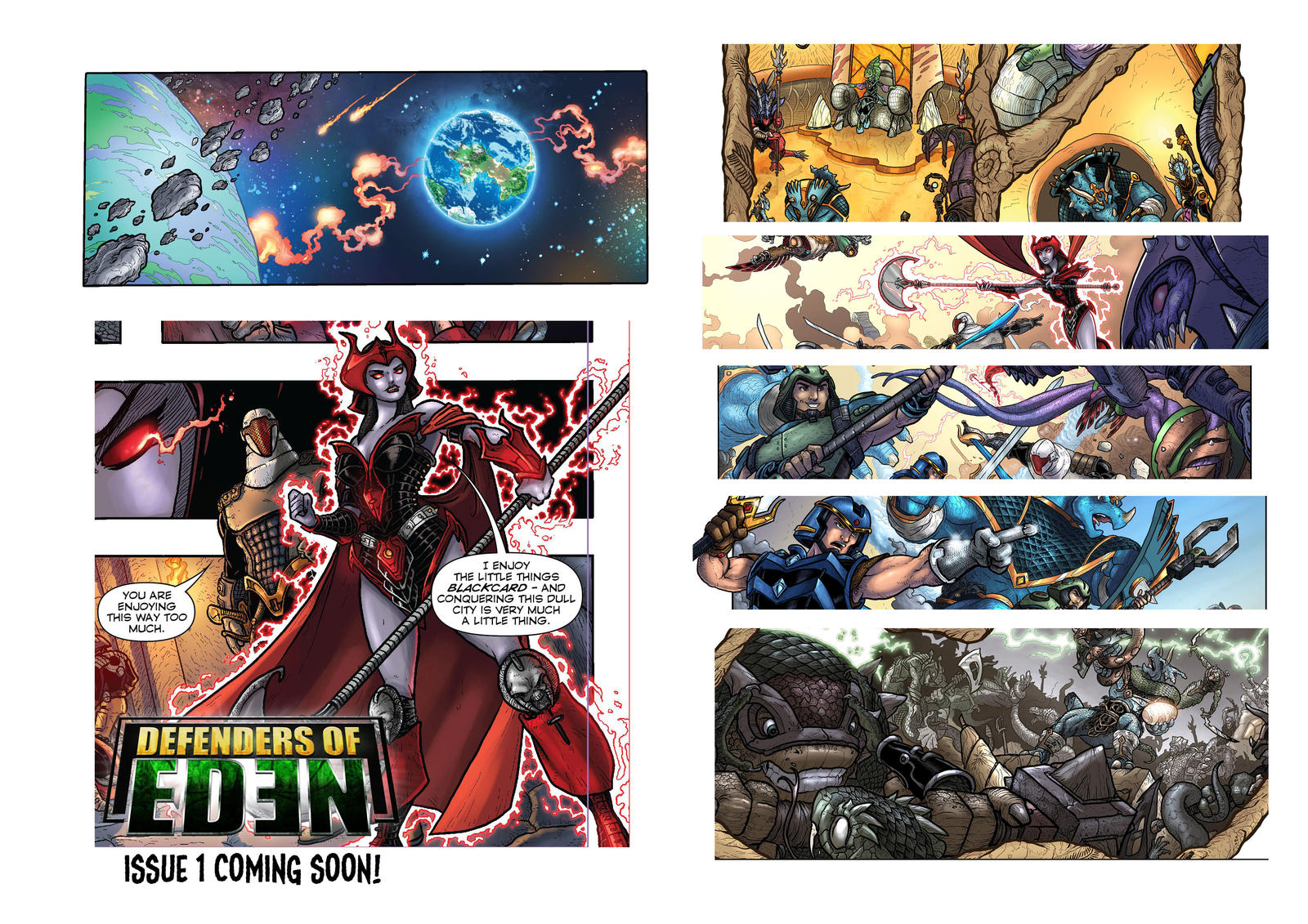 Defenders of Eden sneek peek by oICEMANo