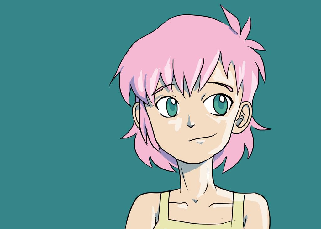Pink Girl (sketch) by RampagingKoala01