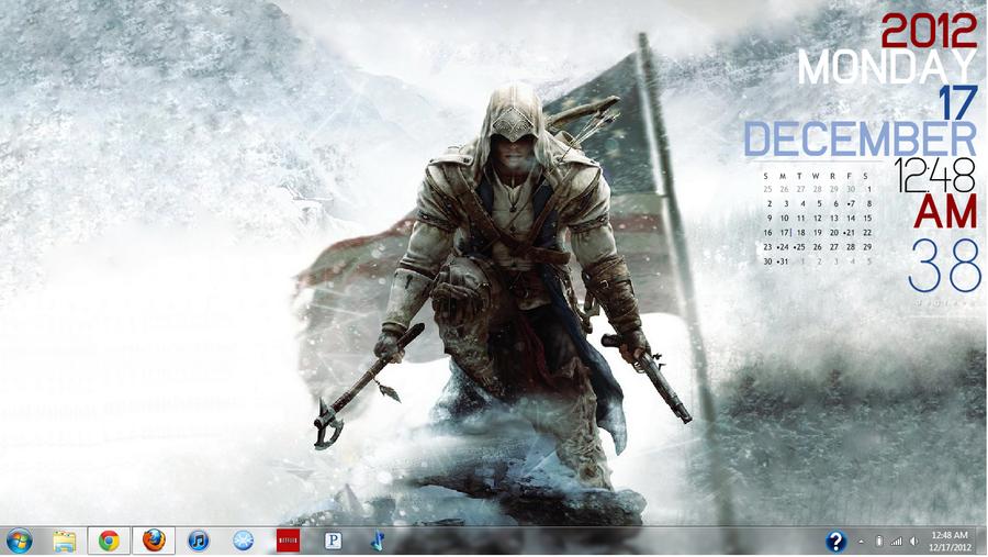 Assassin's Creed 3 Rainmeter Layout by XaRandomHeroxX