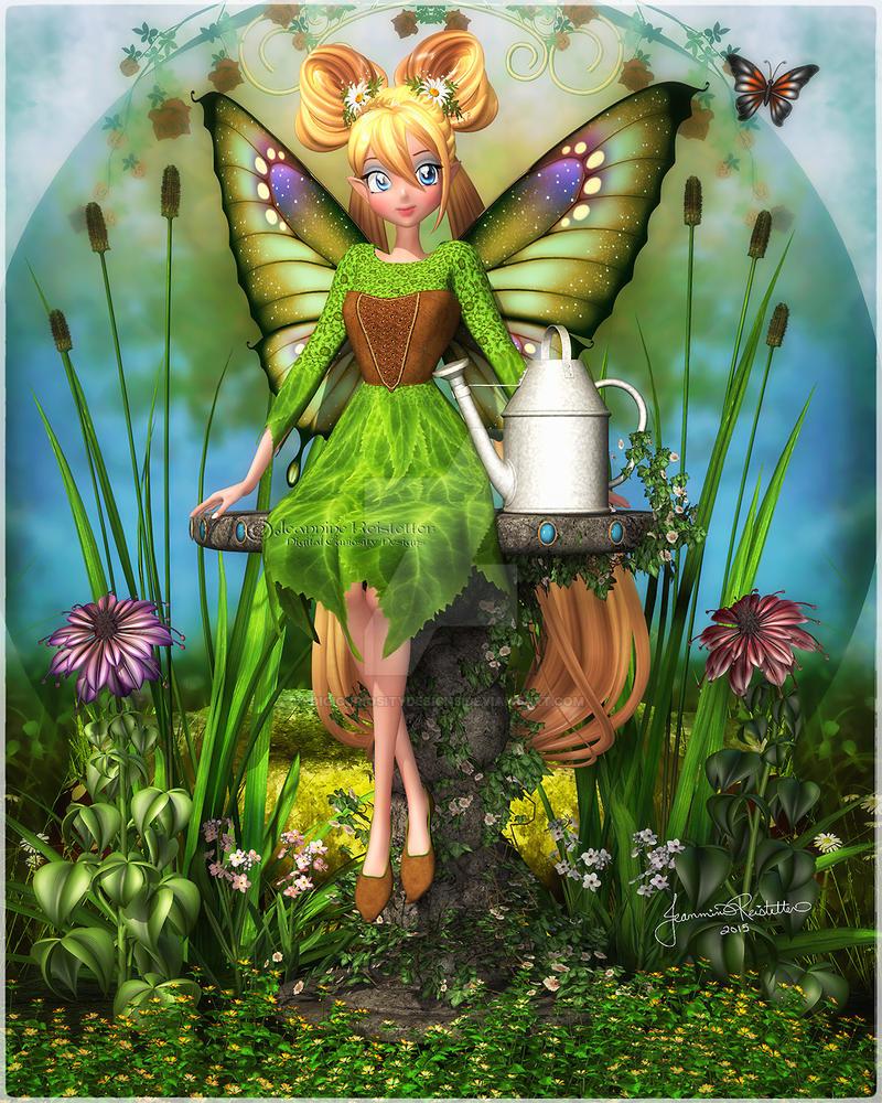Garden Faerie by DigiCuriosityDesigns