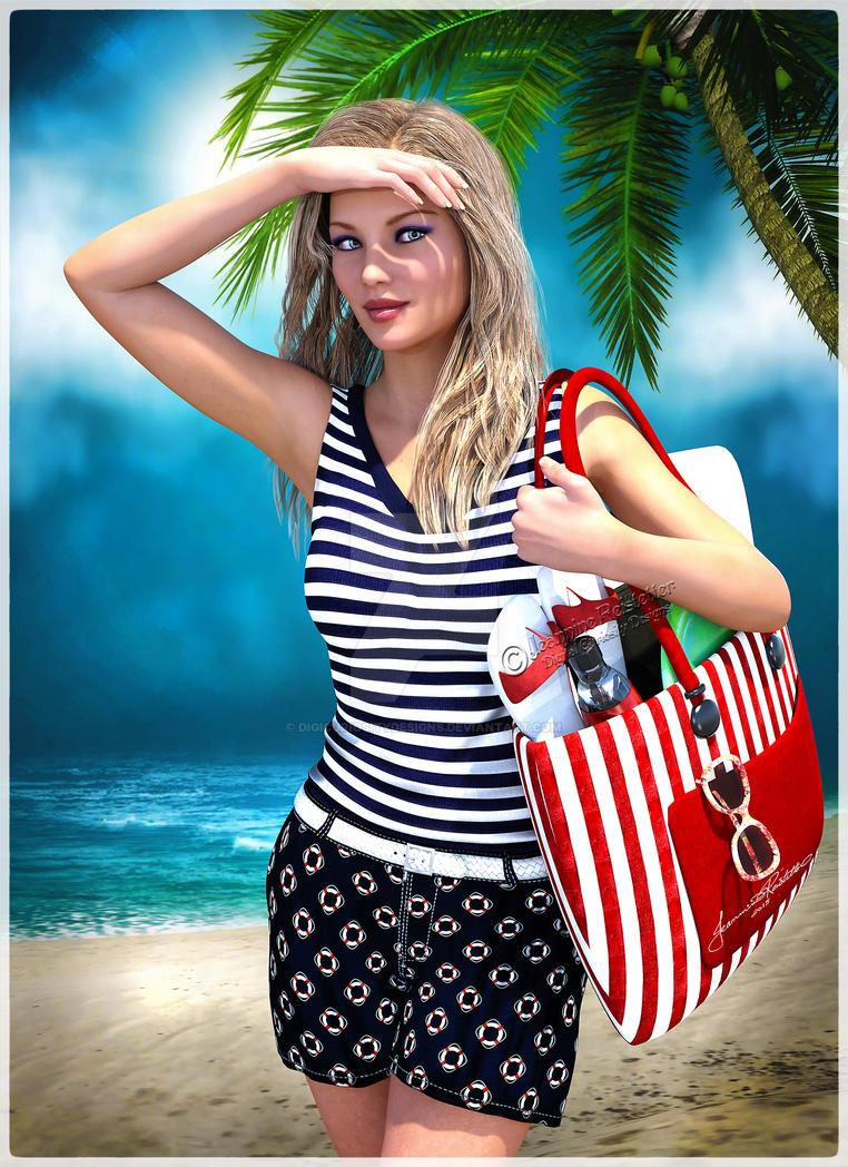 Off to the beach by DigiCuriosityDesigns