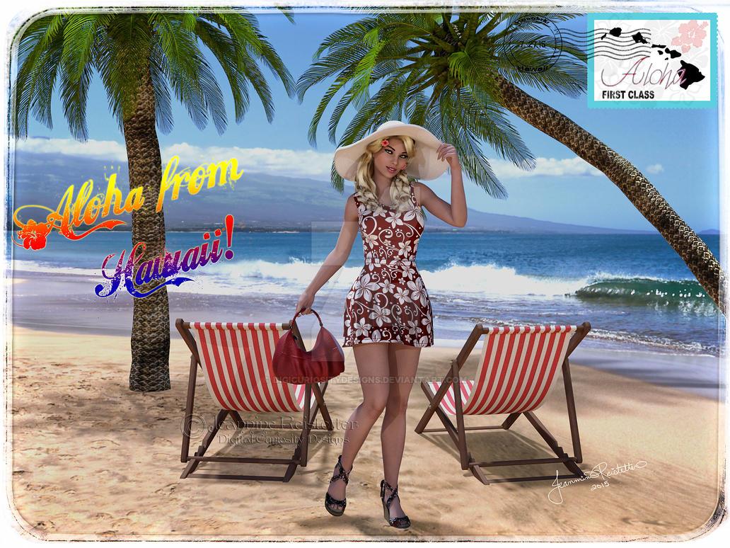 Love from Hawaii by DigiCuriosityDesigns
