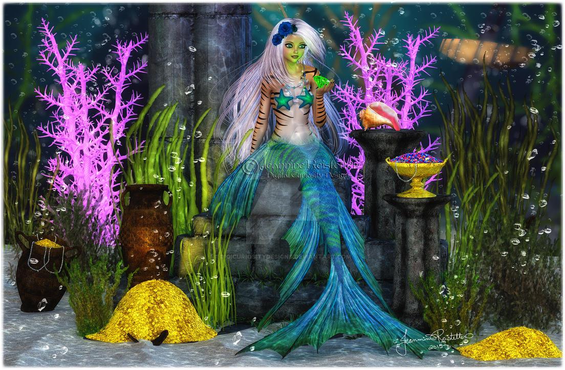 Mermaid Treasures by DigiCuriosityDesigns