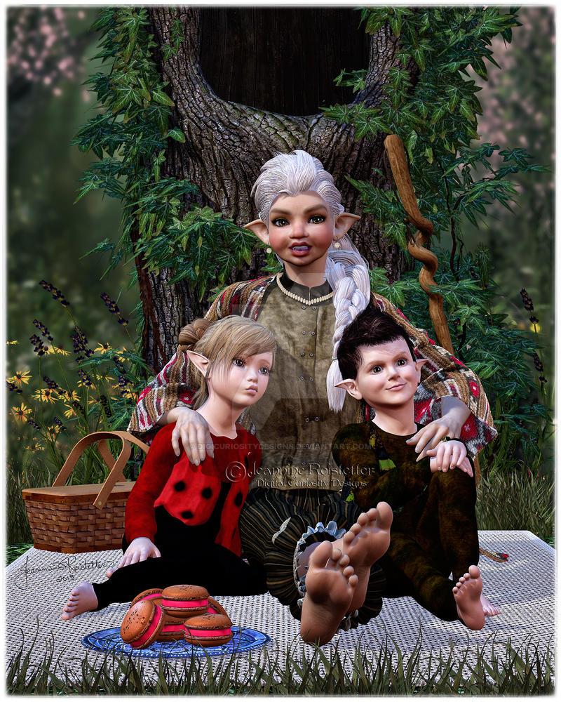 Story time with Nana by DigiCuriosityDesigns