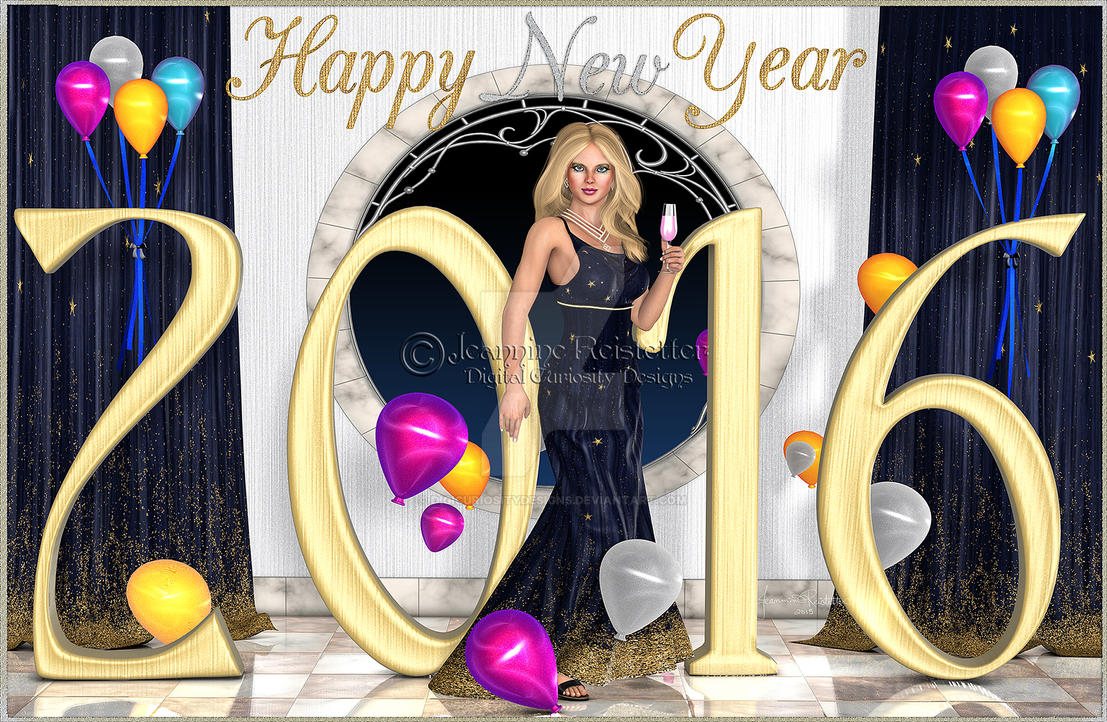 Ring in the New Year by DigiCuriosityDesigns