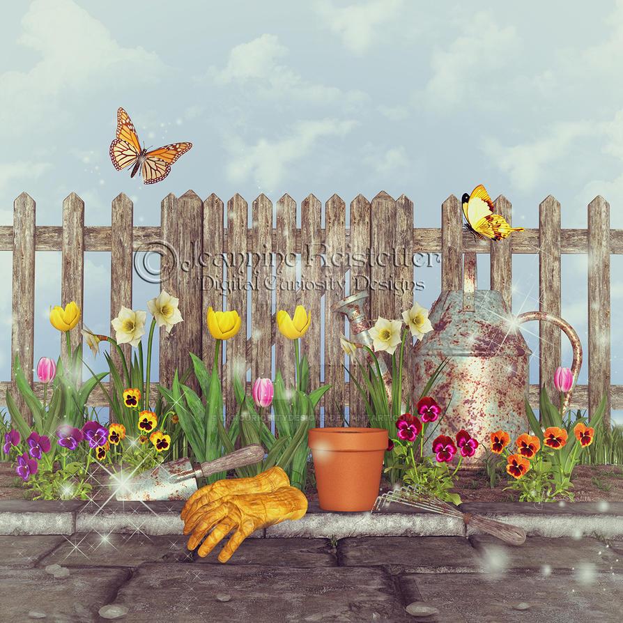 Spring Garden by DigiCuriosityDesigns