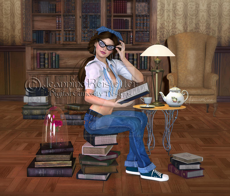 Belle, lost in literature by DigiCuriosityDesigns