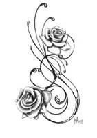 rose tattoo by jadroART