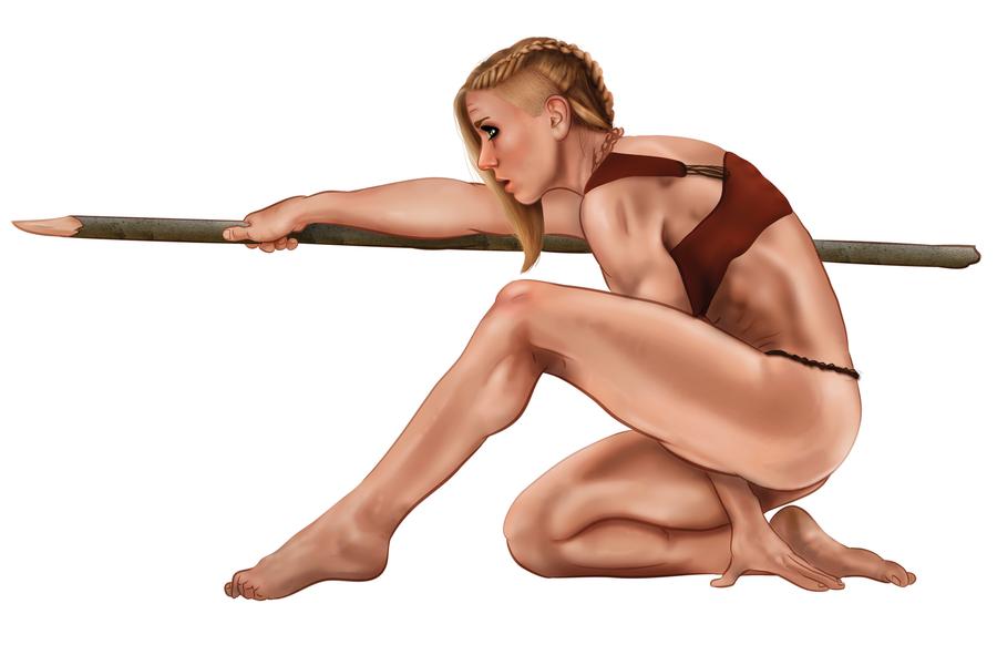 21 Draw - Cavewoman by Chase-Falkenhagen