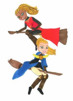 Dori and Mary in Quidditch