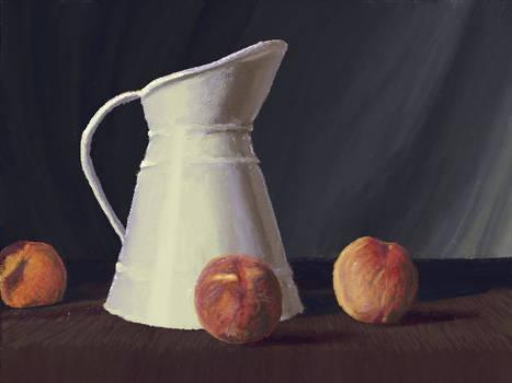 Peach and pitcher(New Art Academy)