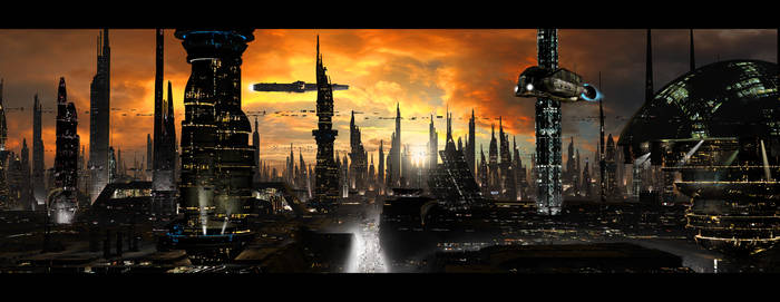 Futuristic City by rich35211