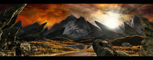 Orange Sky 2  Fantasy Matte