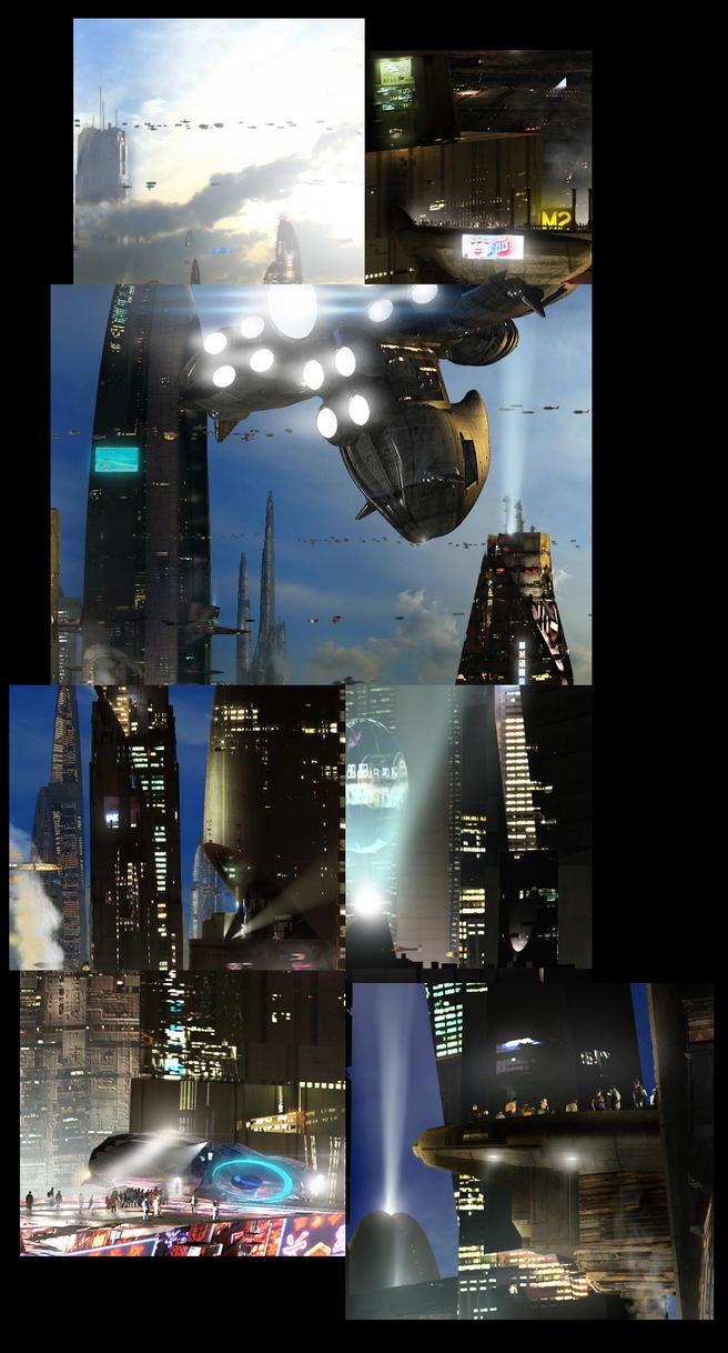 Futuristic City 3 Details by rich35211