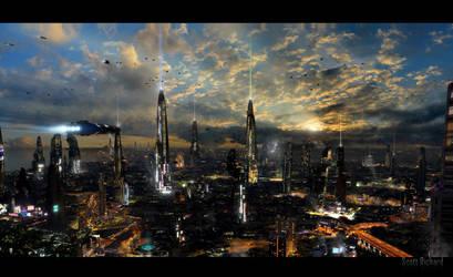 Futuristic City 4 by rich35211