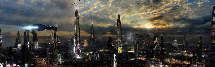 Futuristic City 4 Dual Desktop by rich35211