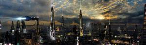 Futuristic City 4 Dual Desktop