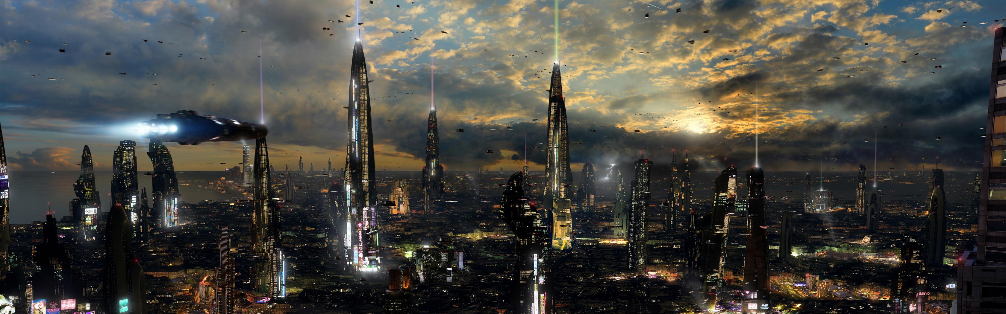 Futuristic City 4 Dual Desktop by rich35211