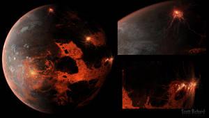 Lava Planet Matte Background