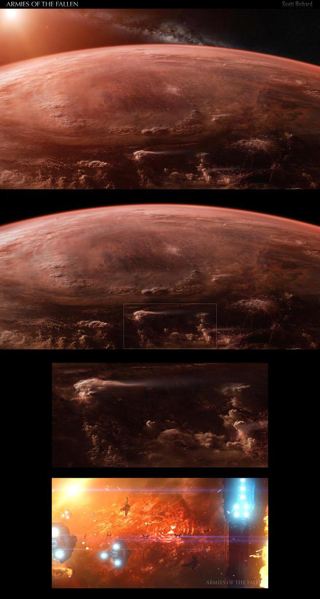 AKUSS ClOSE UP MATTE FOR STAR WARS FAN FILM by rich35211