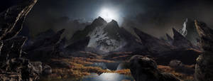 Moon Light Fantasy Landscape matte updated