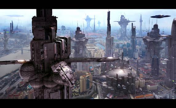 Futuristic City 6 by Scott Richard