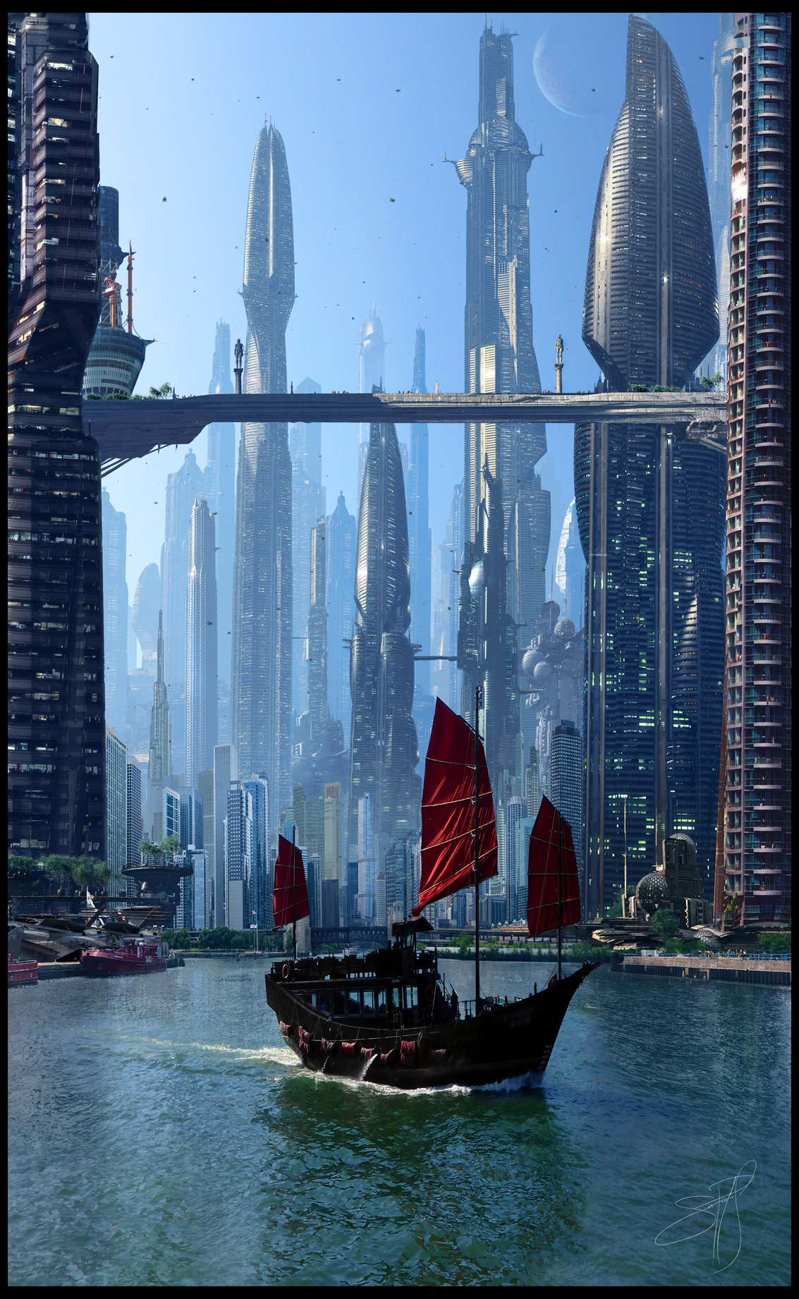 Futuristic City 7 by Scott Richard by rich35211
