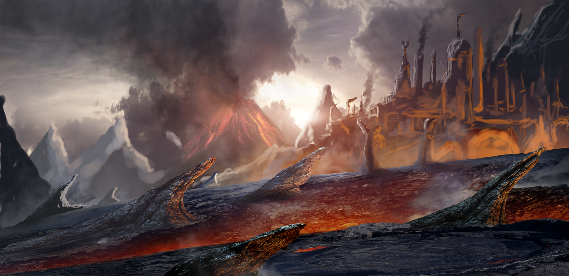 Lava Temple Quick Concept by rich35211