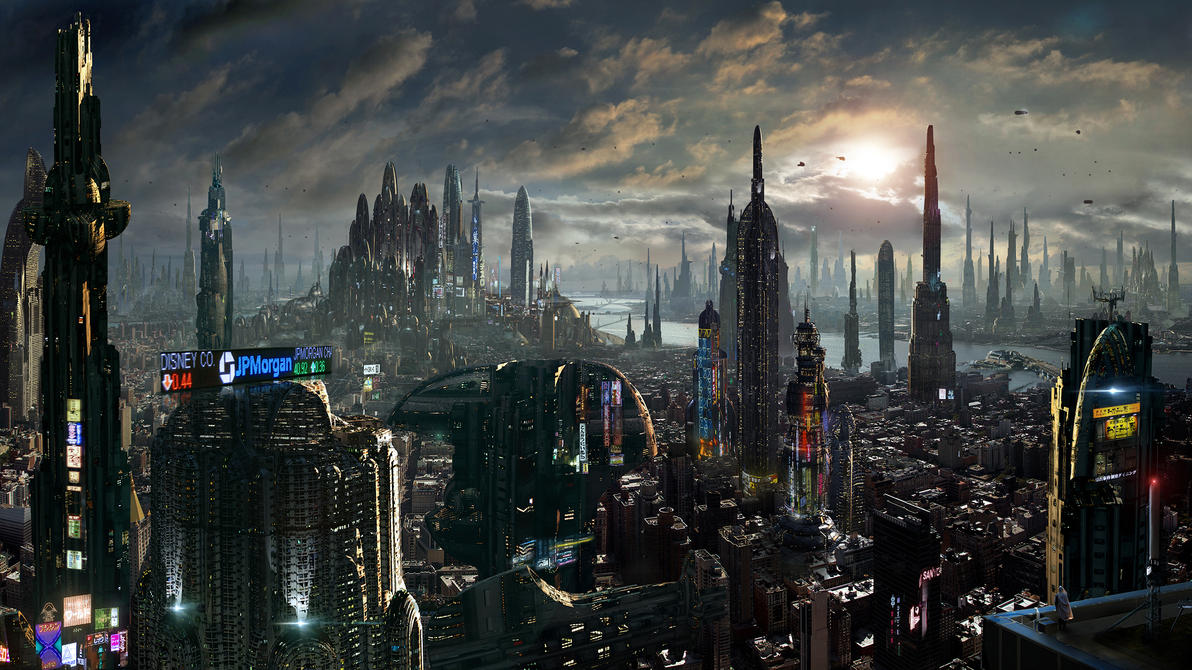 art futuristic cities - photo #45