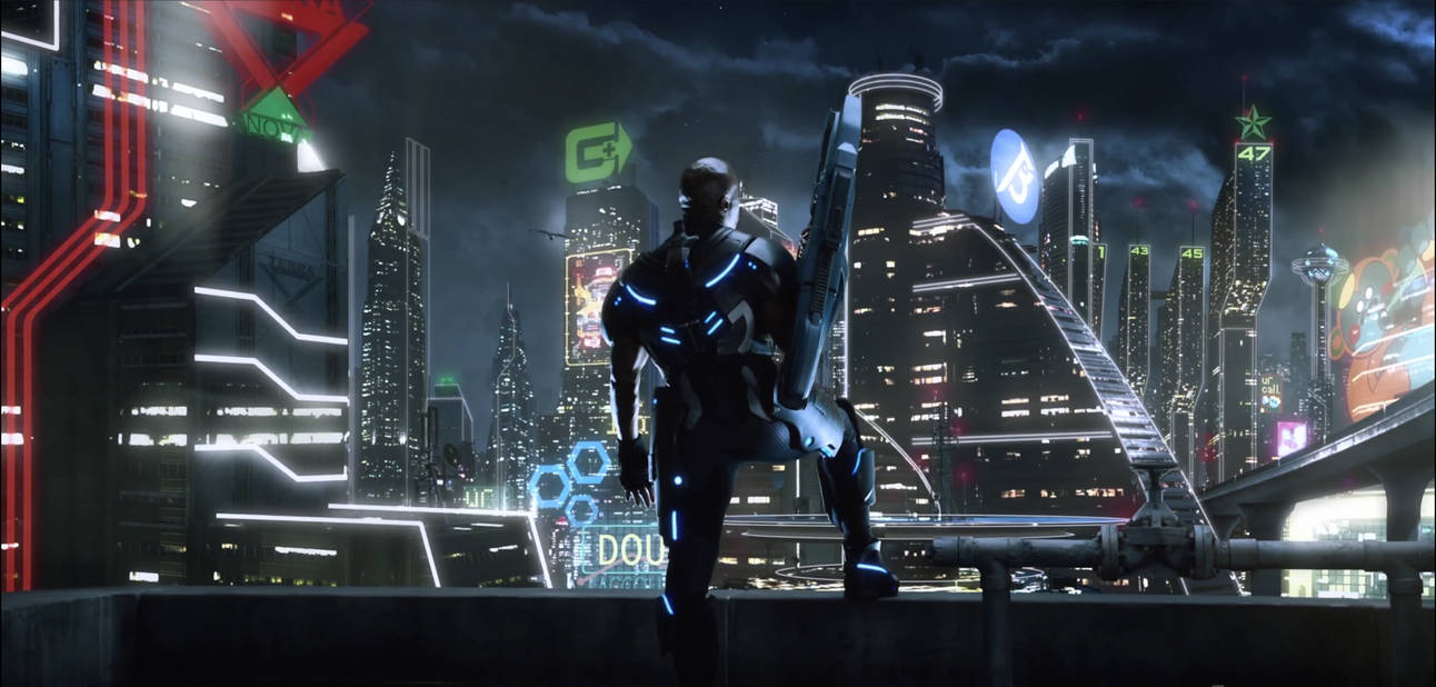 Terry Crews  Microsoft background Crackdown 3 by rich35211