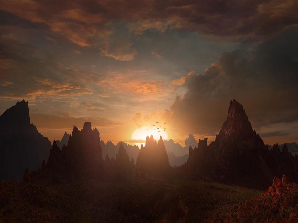 Fantasy Sunset by Scott Richard by rich35211
