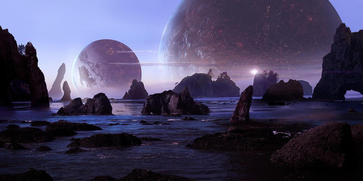 Sci Fi Beach by Scott Richard by rich35211