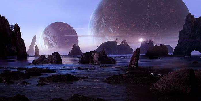 Sci Fi Beach by Scott Richard