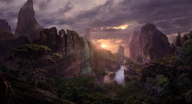 Jungle Sunset by rich35211