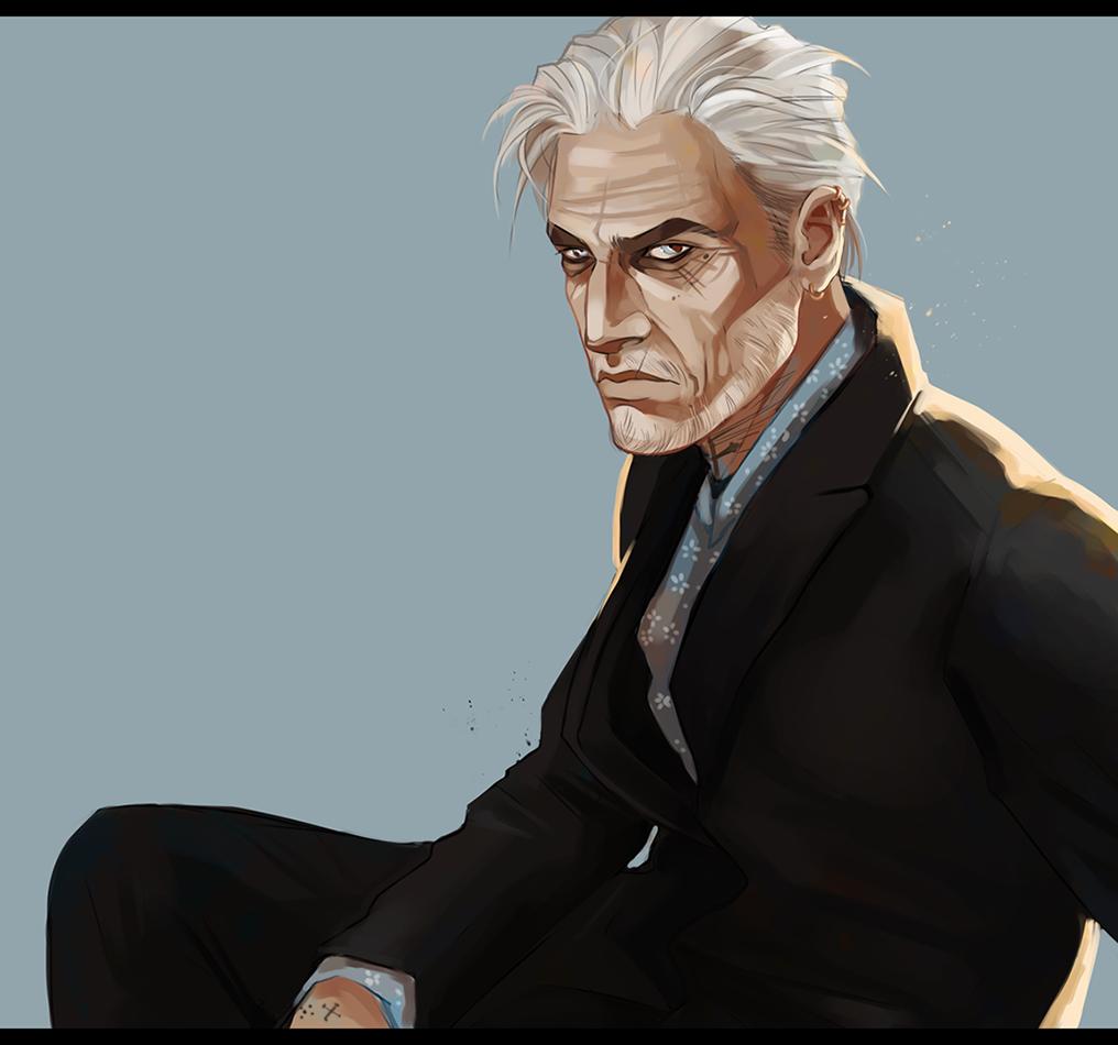 Silver Fox / Old Dog by Desperish