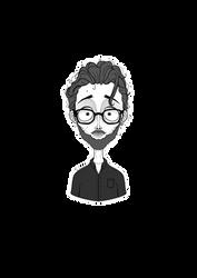 Tim Burton style portrait of my fiance