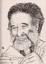 Robin Williams Illustration