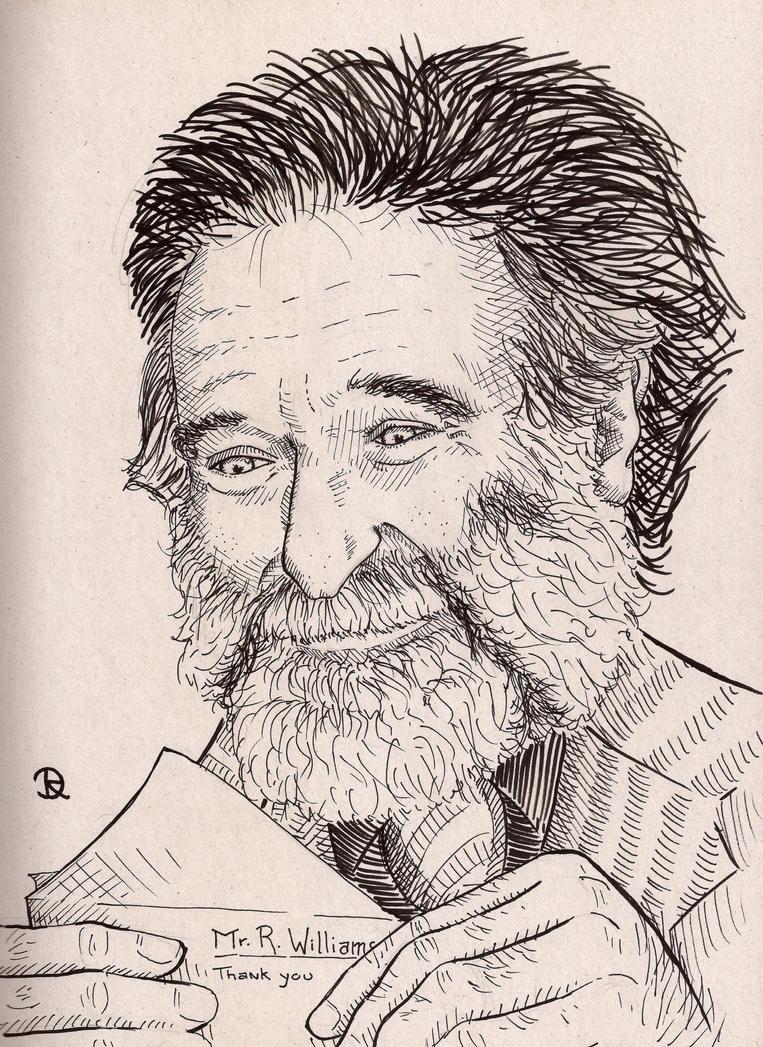 Robin Williams Illustration by RoCazanova