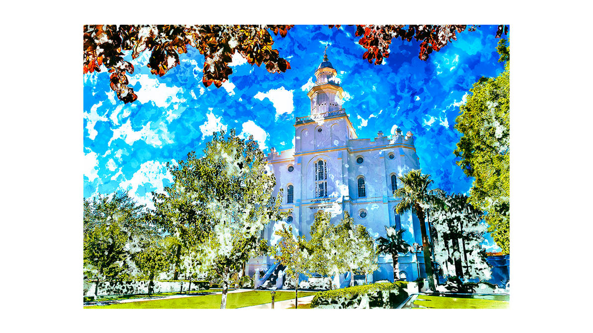 St George LDS Temple 1080p Wallpaper By Seliasjames
