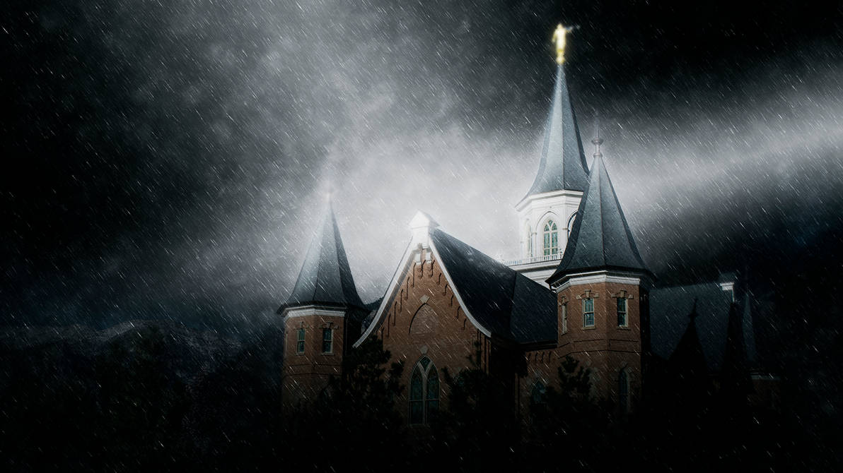 Provo city center lds temple in the rain wallpaper by seliasjames on deviantart - Lds temple wallpaper ...
