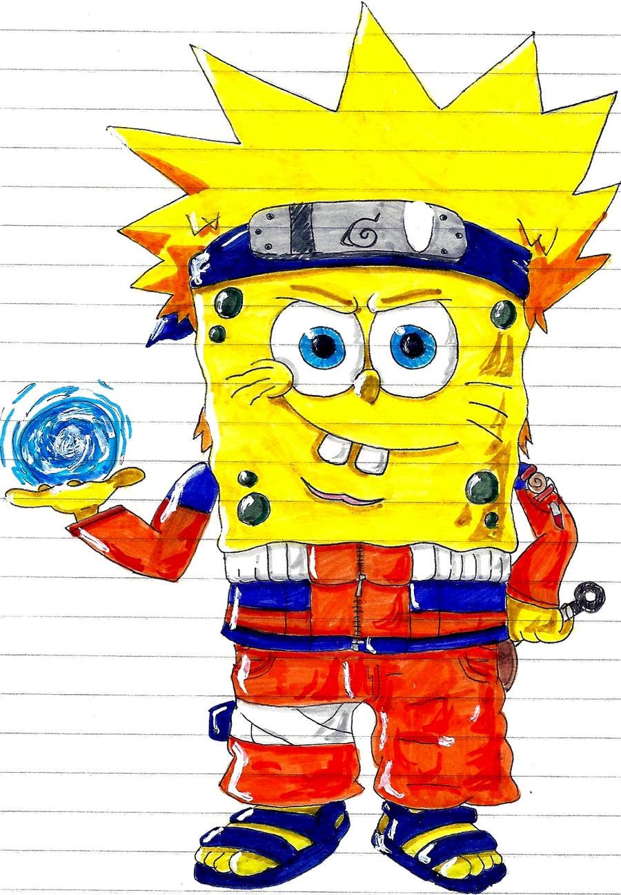 Spongebob Naruto By Asten 94 On Deviantart