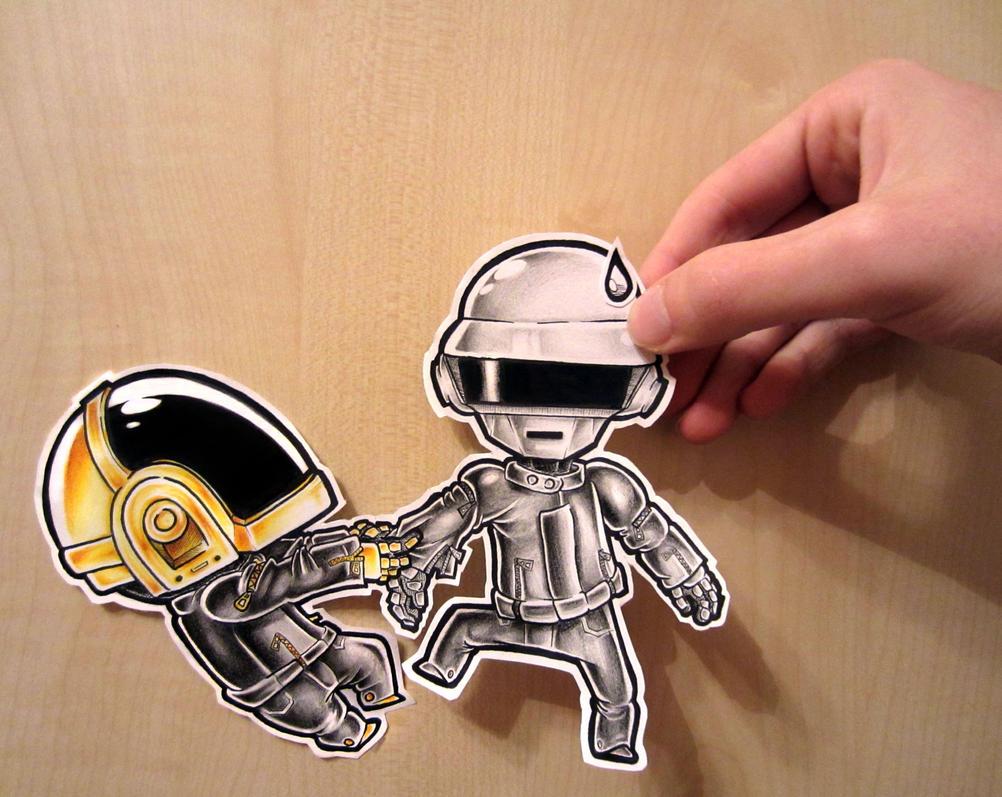 Paper Child - Daft Punk by Asten-94