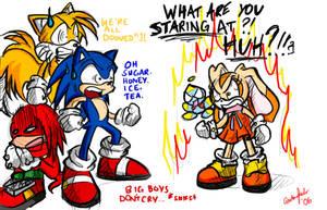 Sonic - OMG WE'RE ALL DOOMED. by ojamajodoremidokkan