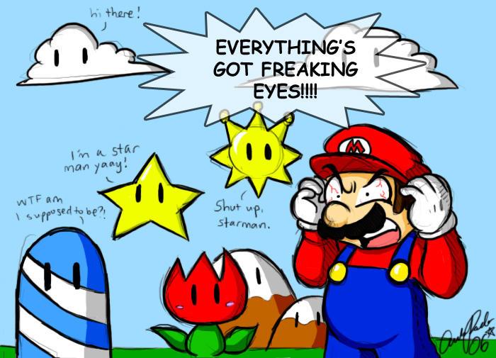 Mario - THE EYES... by ojamajodoremidokkan