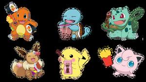 Pokemon Snack Sticker Collection