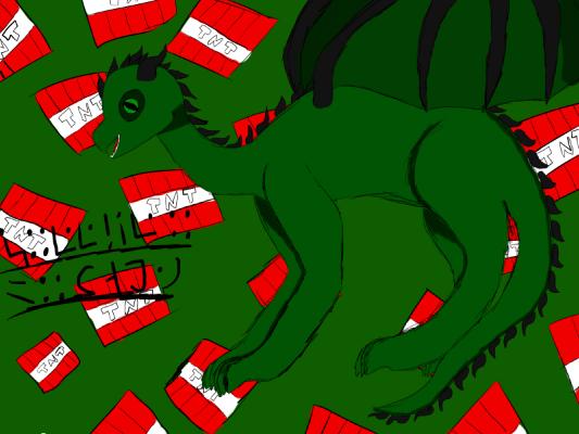 Creeper Dragon! by catgirl2412